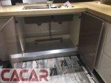 Gabinetes de cozinha lustrosos elevados modernos personalizados da laca do projeto novo