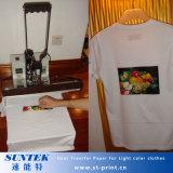 Transfert de chaleur à jet d'encre à format A4 Papier pour textile couleur claire