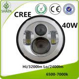 Alto potere un CREE LED Lightting automatico da 7 pollici per la jeep 40W