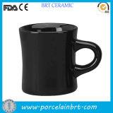 Caneca de café cerâmica do comensal preto por atacado