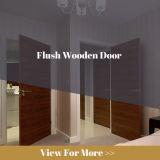 黒いクルミの張り合わせられた同じ高さの木製のドア