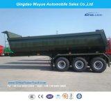 세 배 차축 45cbm U 모양 덤프 트레일러 또는 반 덤프 트럭 트레일러