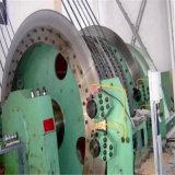 Única mina da corda que iça a máquina, grua da mina
