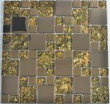 tuile de mosaïque en verre de 8mm, mosaïque de mur pour la cuisine de salle de bains