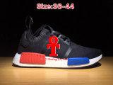 Corredor PK de Addas Nmd los primeros zapatos corrientes azules del trébol rojo para los zapatos de los deportes de los hombres y de las mujeres