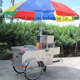 Carrello mobile dell'alimento della friggitrice con lo spuntino veloce