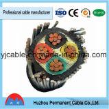 Baixo cabo subterrâneo isolado XLPE e fio do cabo distribuidor de corrente de tensão
