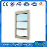 Fenêtre en verre trempé fixe en aluminium