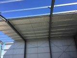 As aves domésticas Prefab do armazém do frame de aço do projeto da construção abrigam a vertente do armazenamento