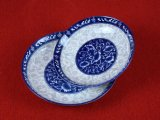 Placa da porcelana/utensílios de mesa azuis e brancos