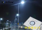 Panel solar la energía renovable en el exterior de la luz de la calle con Sensor PIR