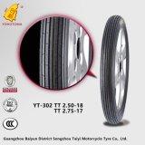 Neumático Yt-302 Tt2.75-17 de la motocicleta de China del precio bajo