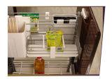 Gabinete de cozinha modular elevado de Gloosy da laca UV européia (ZX-022)