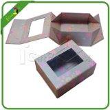 Faltender Geschenk-Papierkasten mit Belüftung-Fenster