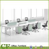 Mesa moderna das estações de trabalho do escritório do banco do escritório do assento da forma 6