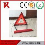 Aviso de emergencia en carretera triángulo triángulo rojo