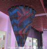 Pantalla video modificada para requisitos particulares P25mm de la cortina del LED ultra flexible