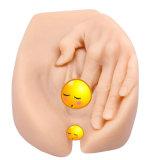 Muñeca adulta realista del sexo del asno de la vagina del gatito realista gordo grande de la falsificación con las manos