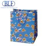hecho personalizado logotipo impreso en papel de la marca de la bolsa de regalo para ir de compras al por mayor (BLF-PB045)