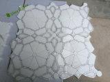 Mosaico de mármol natural cuadrado del jet de agua de la piedra para la decoración del hotel