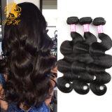 Объемной волны волос девственницы ранга 7A цвет йБ индийской естественный черный, волосы объемной волны Unprocessed девственницы серии 3PCS сырцовой индийские