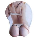 Tapete de rato sexy do jogo do gel da mulher sexy busty do peito 3D