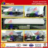 Rimorchio dell'autocisterna del combustibile di capienza di Cbm dell'acciaio inossidabile 50 semi