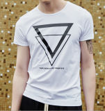T-shirt court blanc d'impression de chemises de la meilleure vente d'usine