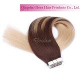 毛のよこ糸によってカスタマイズされるブラジルの人間の毛髪の拡張の熱い販売テープ