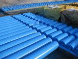 Peint de couleur bleue de rouleaux pour convoyeur à courroie