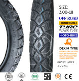 A motocicleta resistente africana do pneumático parte o pneu 3.00-18 da motocicleta do pneumático da motocicleta do velomotor