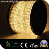 10mm transparente, 13 mm de PVC forma redonda cuerda luces LED