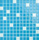 Mozaïek van het Glas van het Kristal van de Kleur van de Mengeling van het Zwembad het Blauwe (G423009)