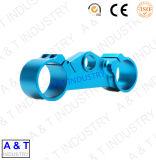 Pezzo meccanico anodizzato blu di CNC di alta precisione