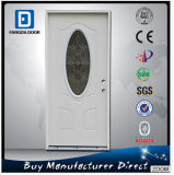 Modèle de salle de bain American Prehung Steel Door with 3/4 Oval Glass