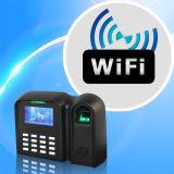 Pantalla de color Biométrica Tiempo de asistencia con el lector de huellas dactilares (WiFi / TCP)