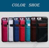 iPhone 8 аргументы за сотового телефона PU самого лучшего бумажника цены кожаный