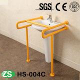 Acero inoxidable del cuarto de baño del tocador y barras de gancho agarrador para arriba-Plegables Handicapped de nylon