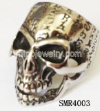 El cráneo de acero inoxidable 316 Abracadabra el anillo (SMR4003)