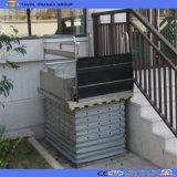 먼지 방지용 커버를 가진 휠체어 엘리베이터 상승