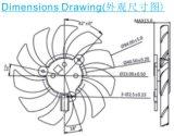 Dz10015 Stützventilator des Kühlventilator-100*100*15 mm