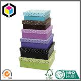 Rectángulo de regalo rígido a todo color del papel de la cartulina para la joyería