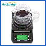 Escala electrónica del café del goteo de Waterpoor de la cocina de Digitaces con la función del temporizador