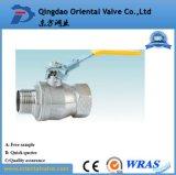 El agua de baja presión de los medios de comunicación y la válvula de bola de latón de 3/4 pulg.