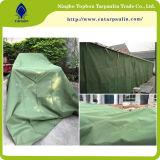 100% tela incatramata di tela di canapa verde del cotone, tela incatramata verde dell'esercito, tela incatramata di tela di canapa resistente