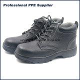 De corte alto cuero Bafflo Puntera zapato de trabajo de los hombres