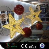 カスタム商業クリスマスのショッピングモールの装飾のための大きいハングの星ライト
