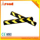 Protezione d'angolo di gomma gialla luminosa ad angolo retto di servizio di parcheggio del riflettore