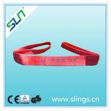 7:1 di fattore di sicurezza della tessitura del poliestere di colore rosso di 5t*9m