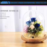 Alto vaso personalizzato di vetro di coperchio di vetro di Borosilicate